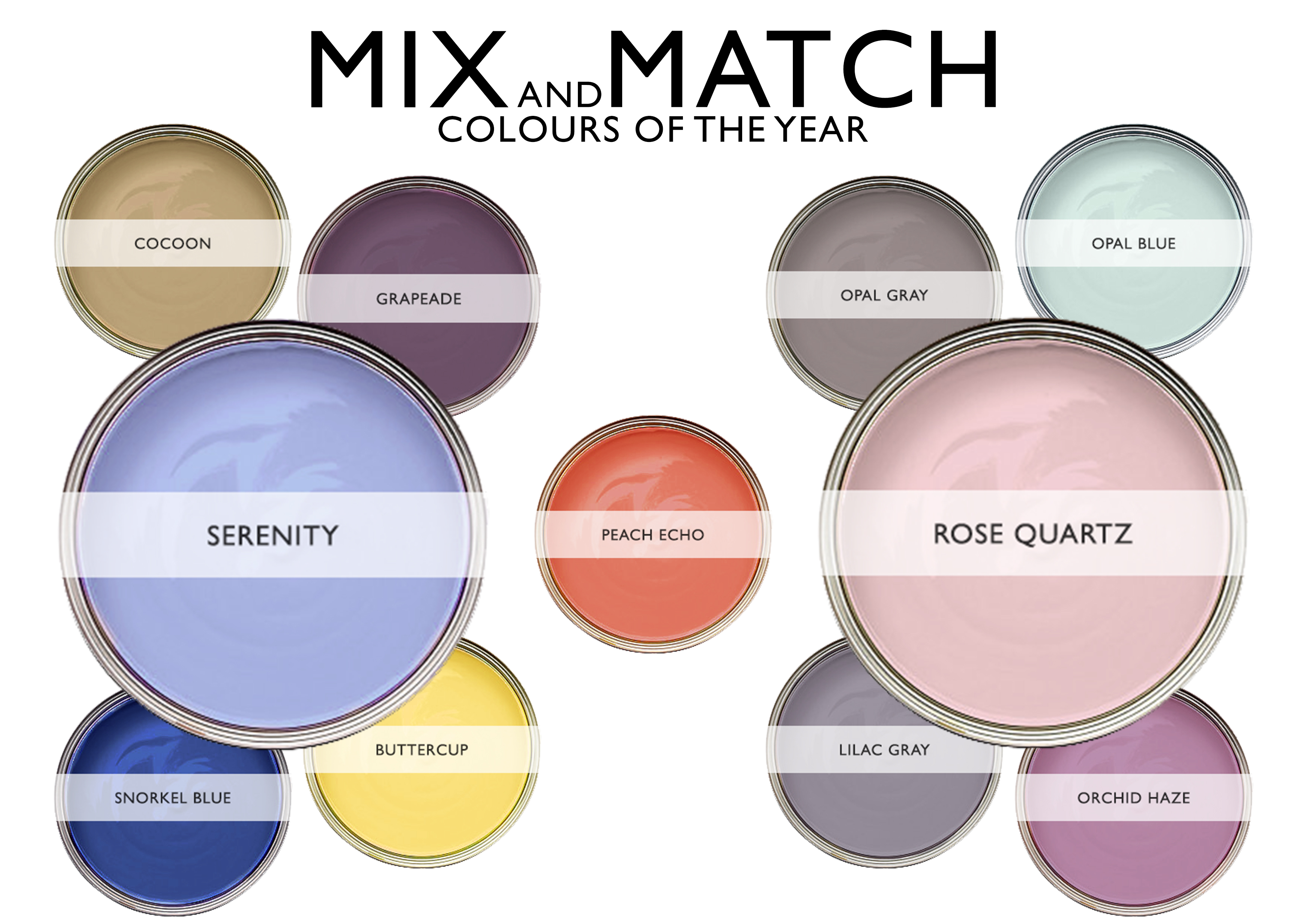 Mix And Match Pantone Colours Of The Year Roman Blinds Blog