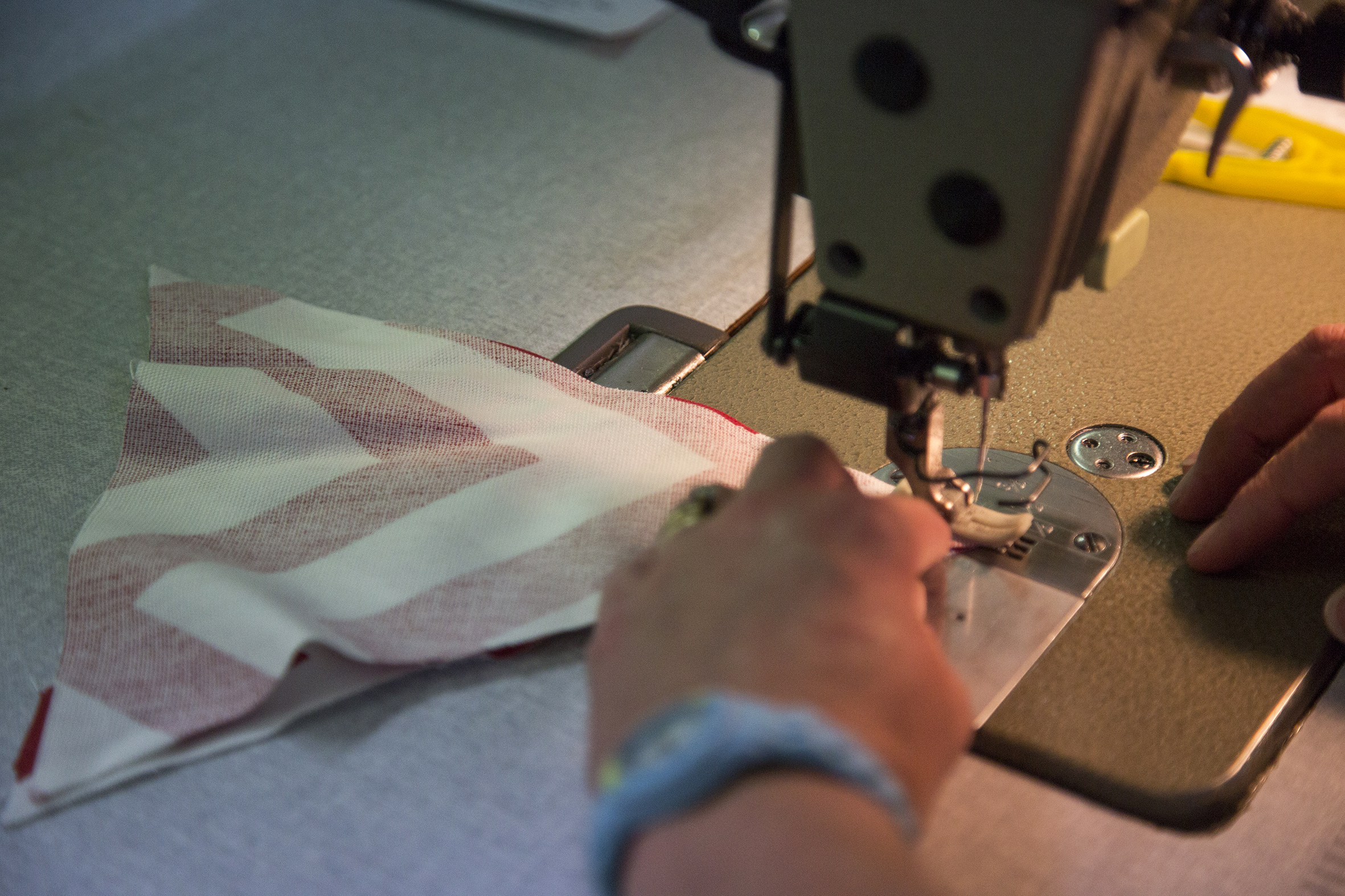 Stitching your bunting