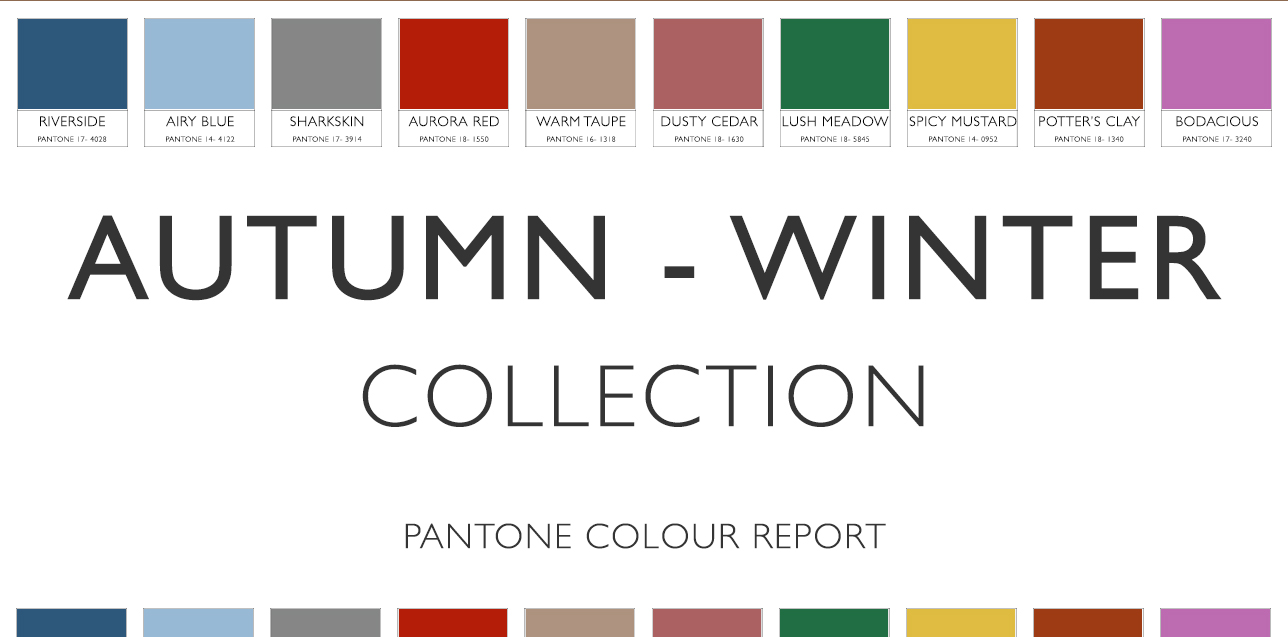 AW16 Collection Pantone Colour Report Roman Blinds Blog