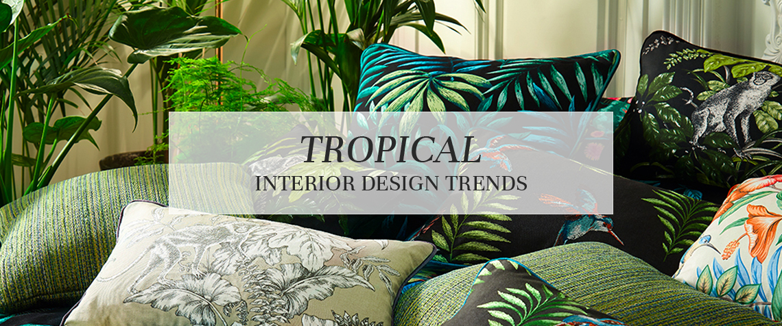 Tropical interiors have never been hotter. From cactus prints and flamingo patterns to psychedelic jungle scenes the Tropical Trend is as erse as it is ... & Tropical Interior Design Trends   Roman Blinds Blog